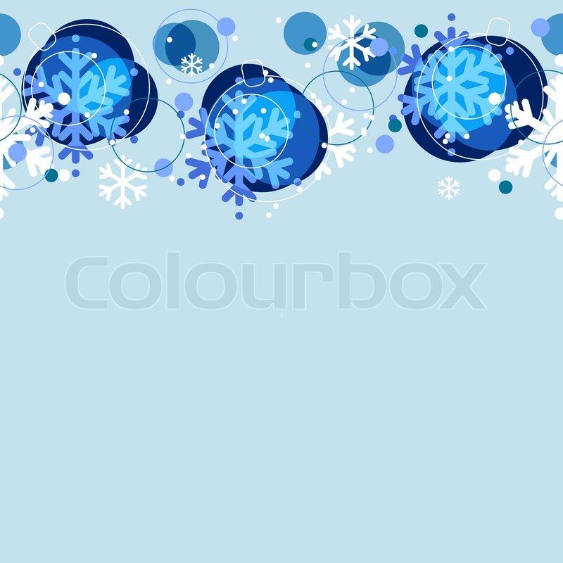 Nahtlose Weihnachten Muster mit blauen Kugeln und weißen ...