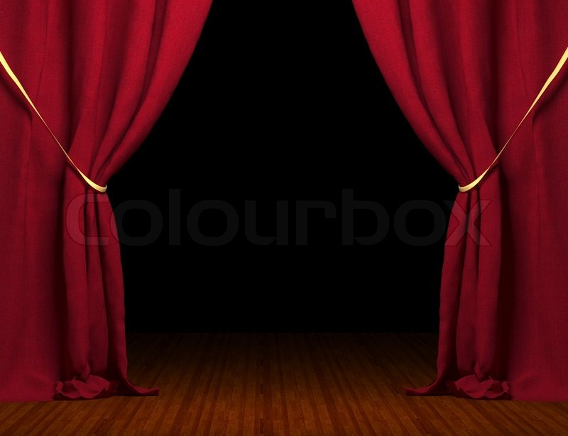 3d red curtain Stock Photo Colourbox