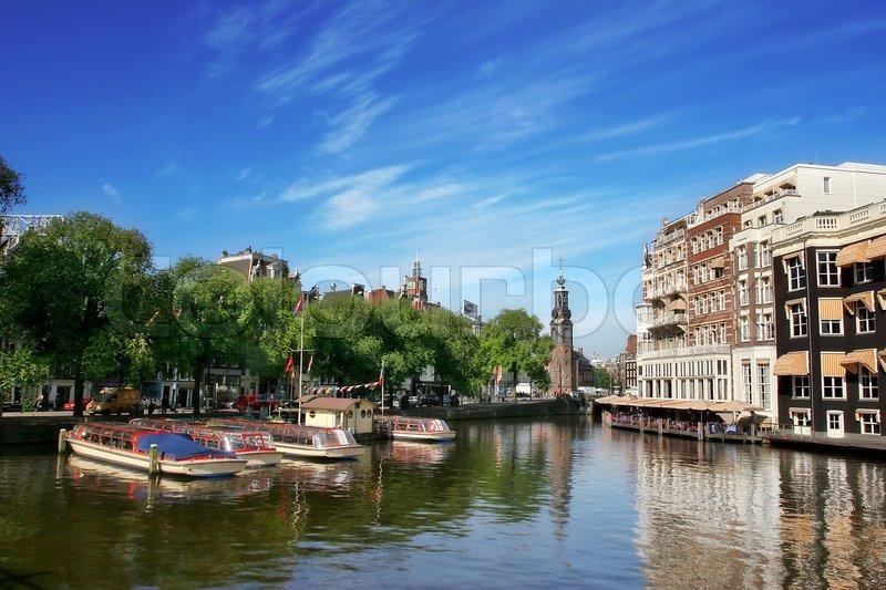 hollandsk flod ved amsterdam