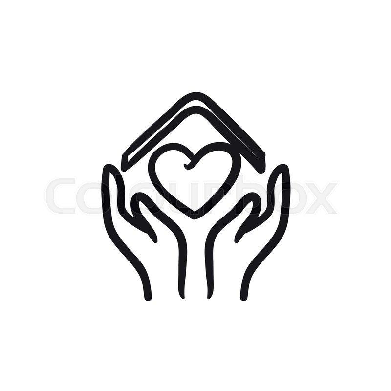 Cool Hands Holding House With Heart Vector Stock Vector Home Remodeling Inspirations Genioncuboardxyz