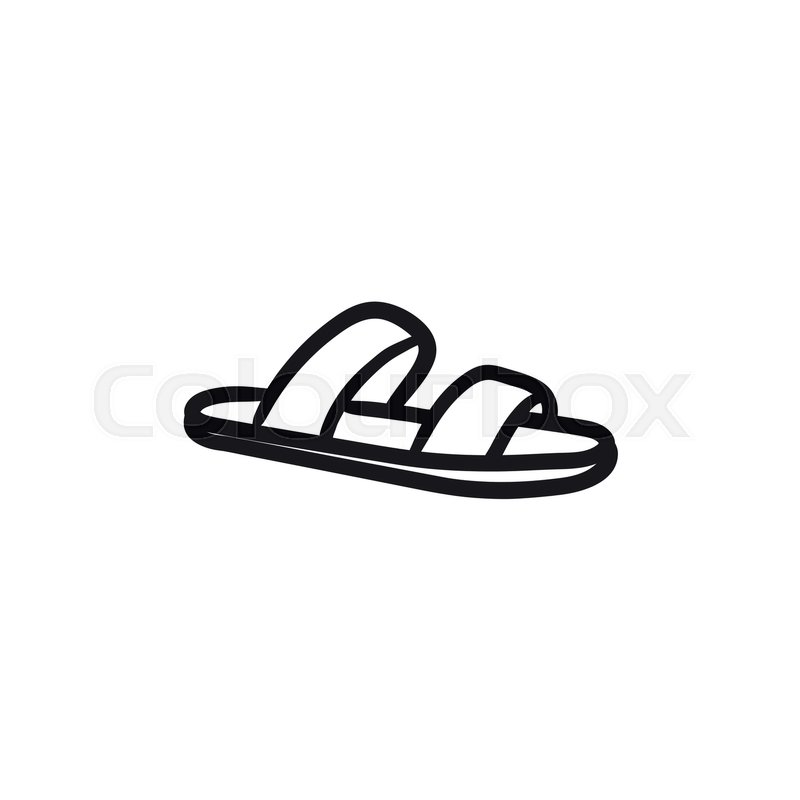 94a9e1c3c Flip-flops vector sketch icon isolated ...