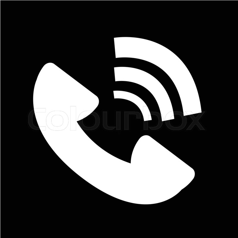 Telephone Symbol Icon Vector Illustration Stock Vector Colourbox