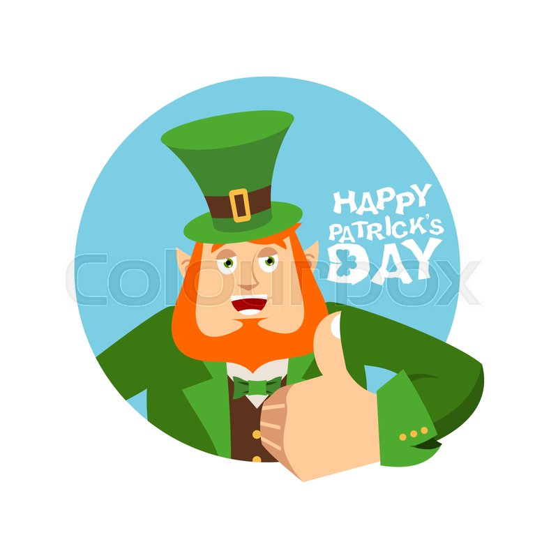 Happy st patrick 39 s day leprechaun winks dwarf with red for Irish mail cart plans