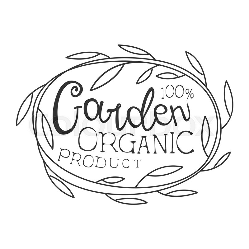 Garden Organic Product Black And White Promo Sign Design Template ...
