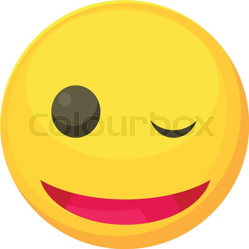 Winking smiley icon  Cartoon     | Stock Vector | Colourbox