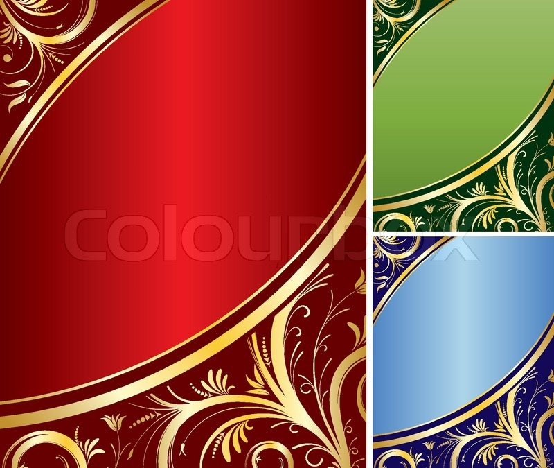 Gold Flower Background With Frame Stock Vector Colourbox
