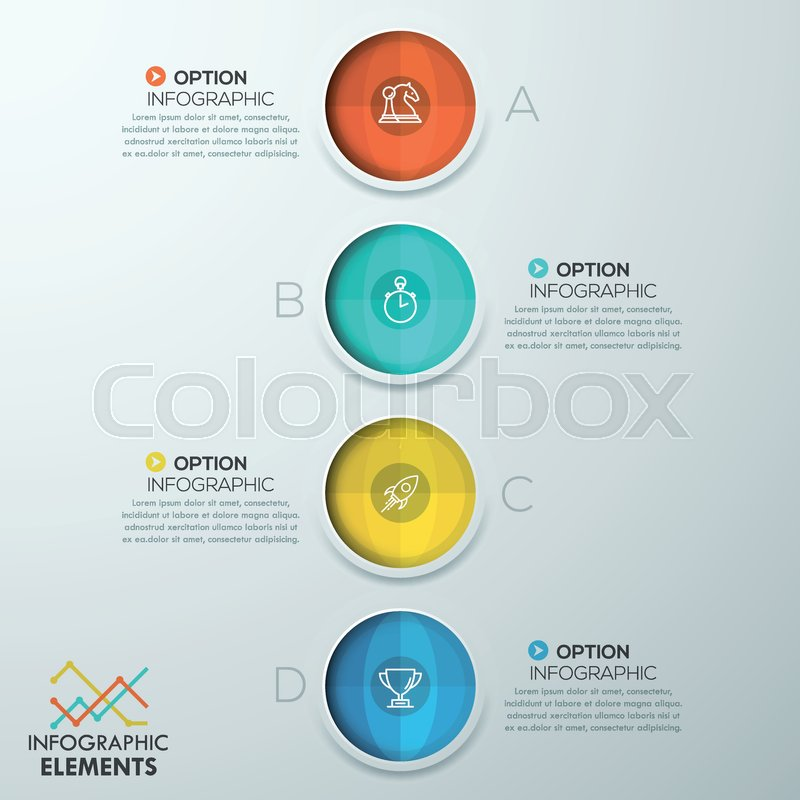 Vertical infographic design template 4 separated circular elements 800pxcolourbox24692975g friedricerecipe Choice Image