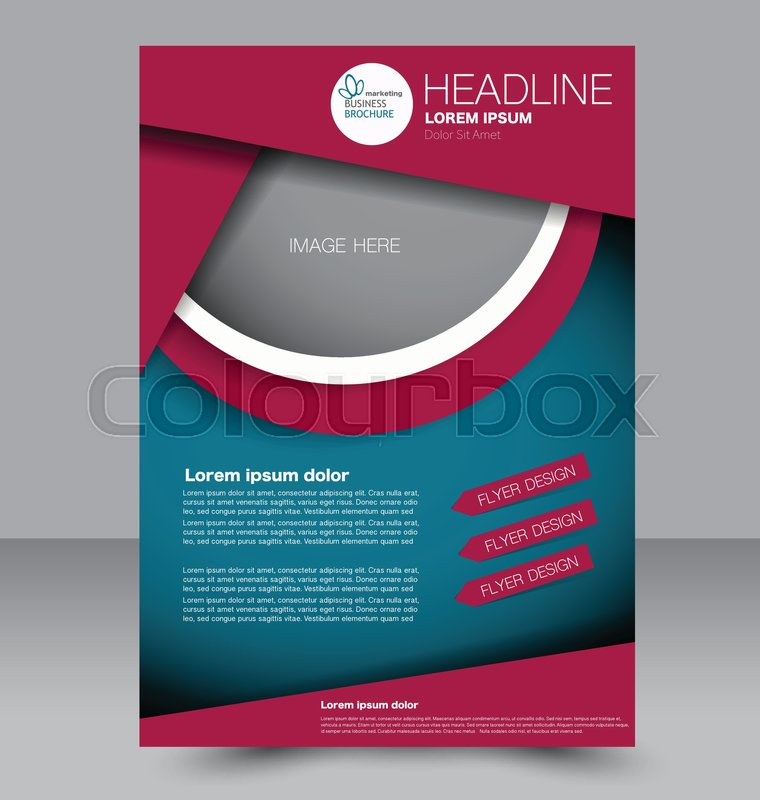 abstract flyer design background. brochure template. to be used, Presentation templates