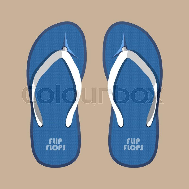 519e09ae448f9 Pair of blue summer flip flops rubber ...