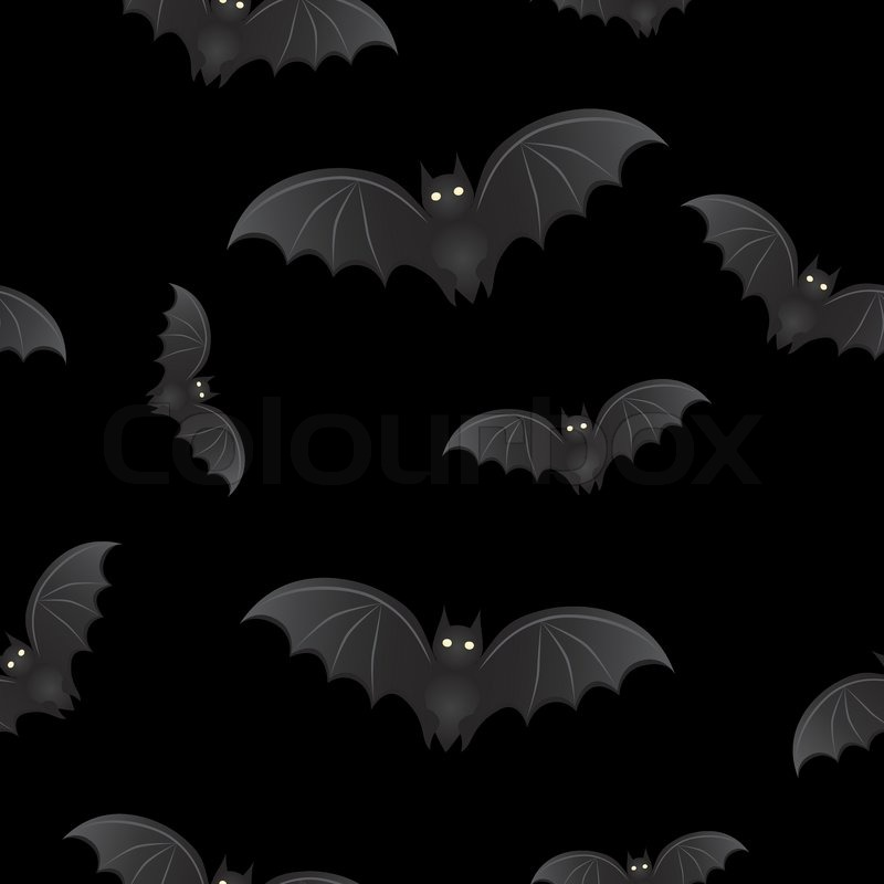 seamless background with bats for halloween stock vector