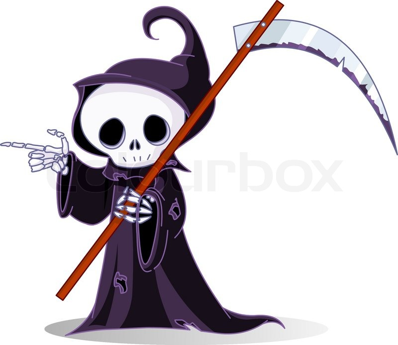 how to draw a cartoon grim reaper