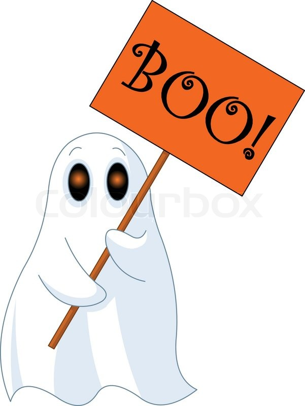 illustration of very cute ghost with u201cboo u201d sign stock vector rh colourbox com cute ghost clipart images cute ghost clipart free