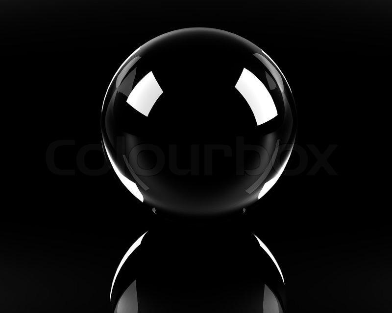 empty glass sphere on the black background stock photo colourbox - Black Glass
