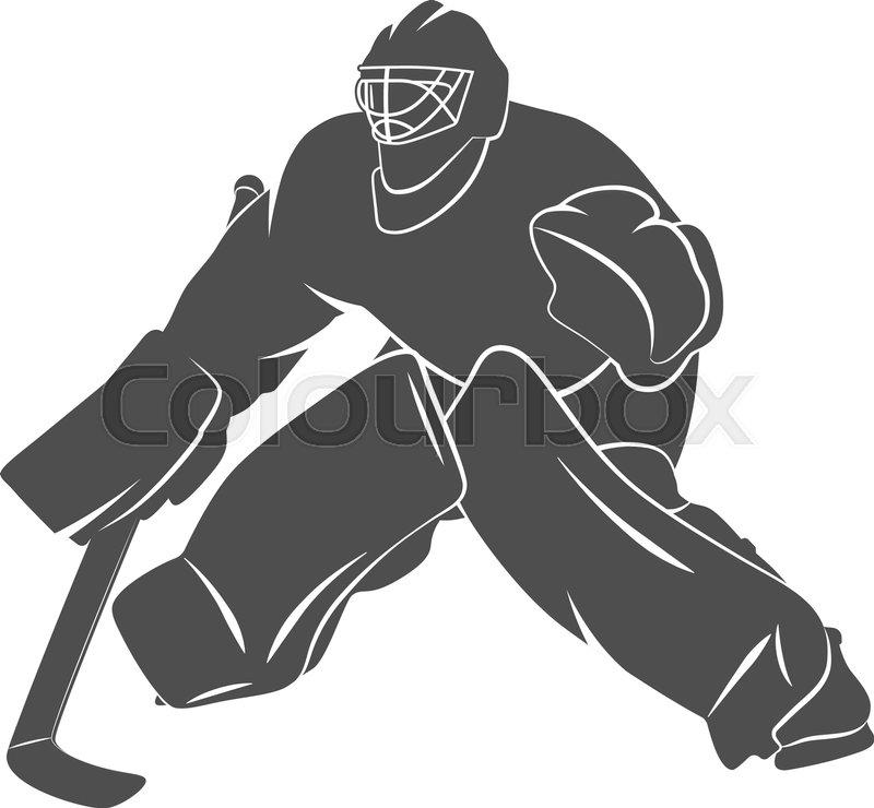 Silhouette Hockey Goalie Player On A Stock Vector Colourbox