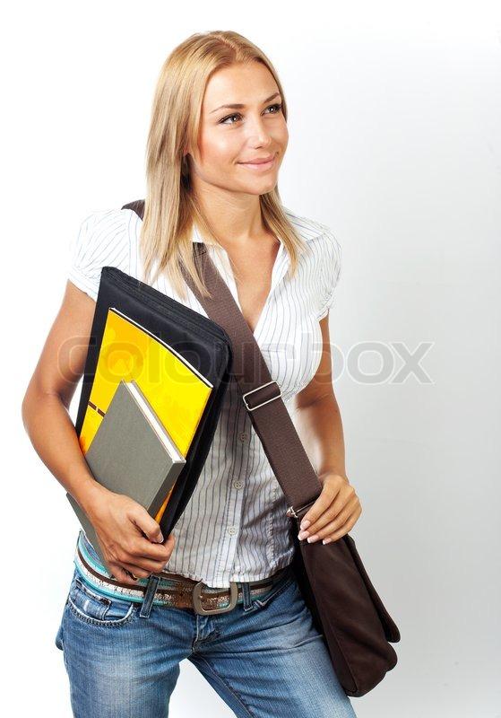 Studentinnen junge hübsche Hübsche Studentin