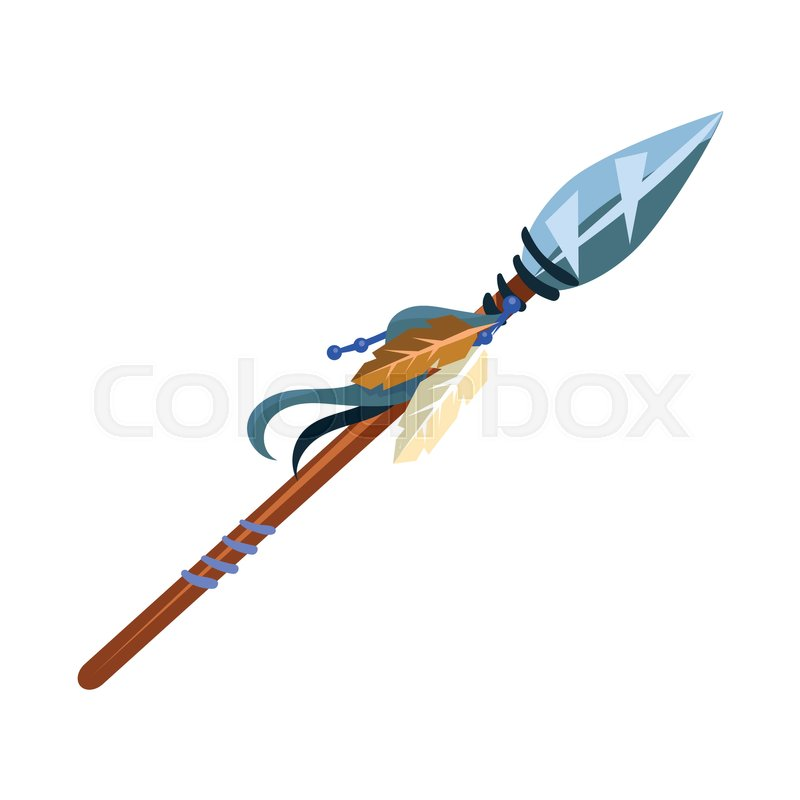 Warriors Spear Cold Weapon Native American Indian Culture Symbol