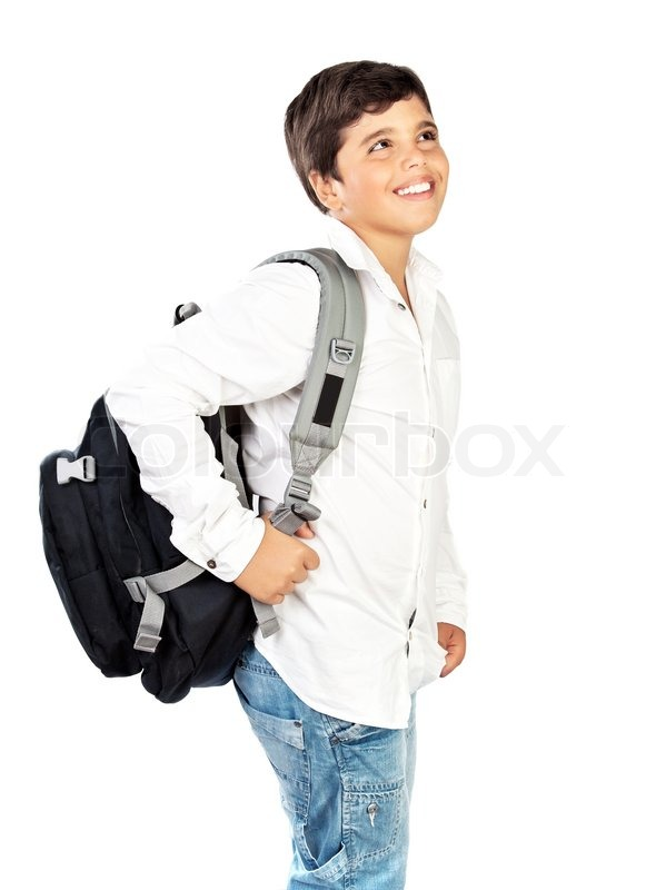 Stock image of 'Happy little schoolboy smiling, beautiful preteen boy ...