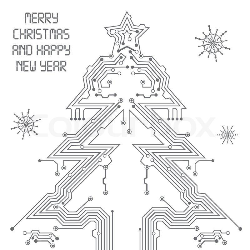 weihnachtsbaum von der leiterplatte