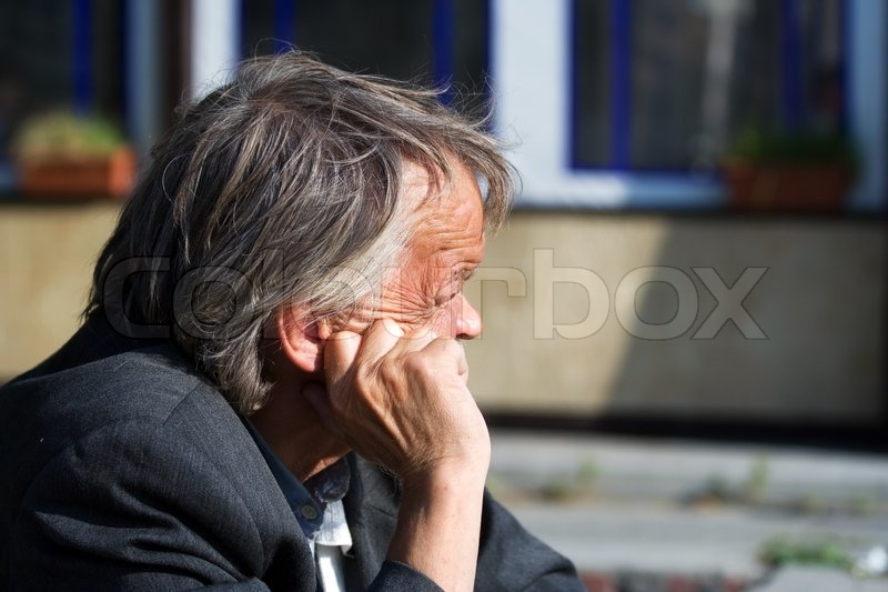 Stock image of 'Sad old man'