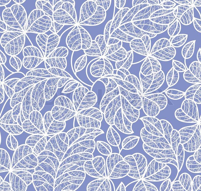 Blatt hintergrund nahtlose blaue tapete vektorgrafik for Blaue tapete
