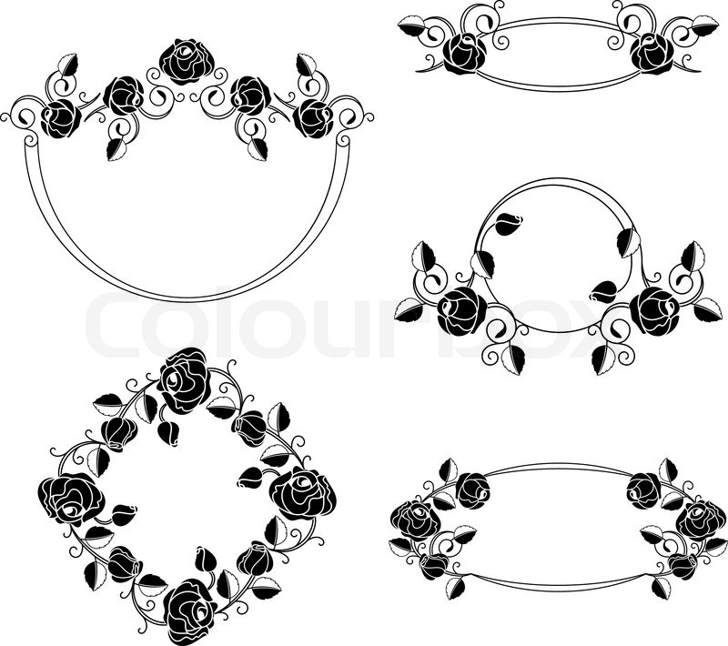 Floral ornaments vignette and frames, vector design | Stock Vector ...