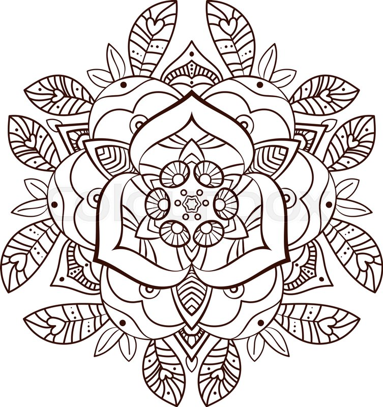 Coloring Book For Adults Old School Tattoo Print On Postcards T Shirts Packaging Smartphone Cover Napkins Pillows Alchemical Tarot Magic Rose