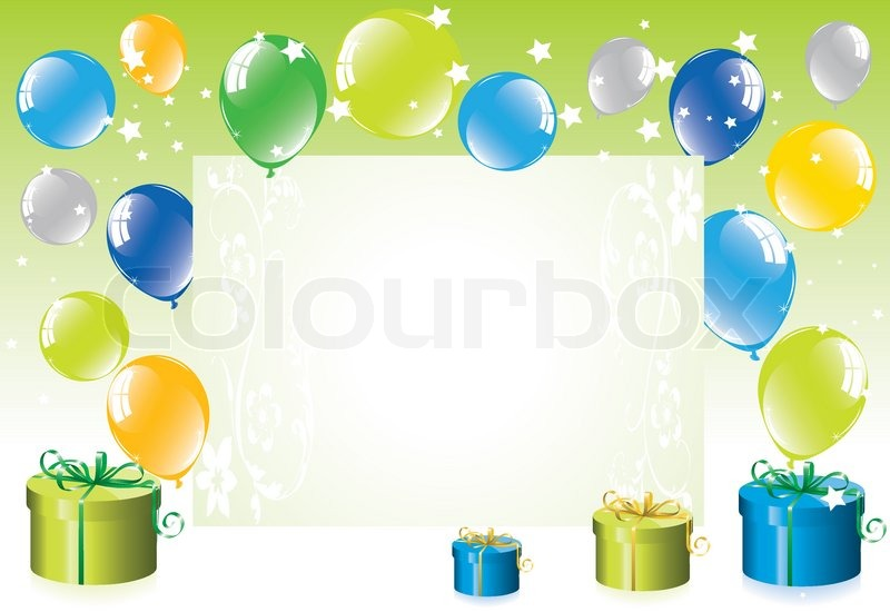 vector colorful festive balloons and gift boxes stock vector
