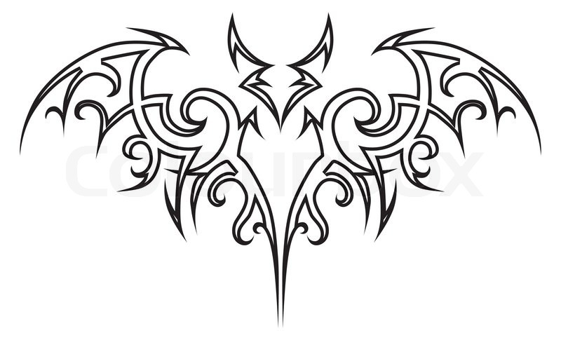 vector tattoo tribal fledermaus vektorgrafik colourbox. Black Bedroom Furniture Sets. Home Design Ideas