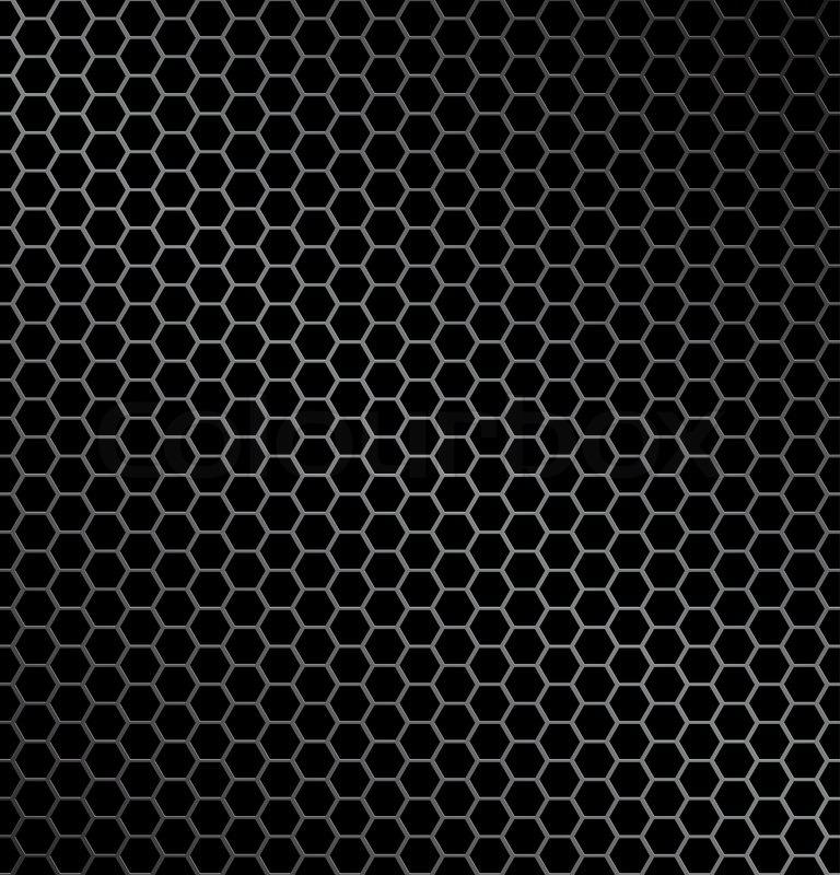 Vektor Illustration Von Hexagon Metall Hintergrund Mit