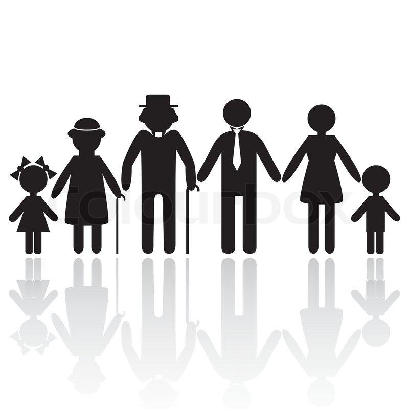 2478264 435328 People Silhouette Family Icon Person Vector Woman Old Man Kid Icon Child Grandpa Grandma Granny Grandmoth Silhouette Family Mother Art Kids Icon