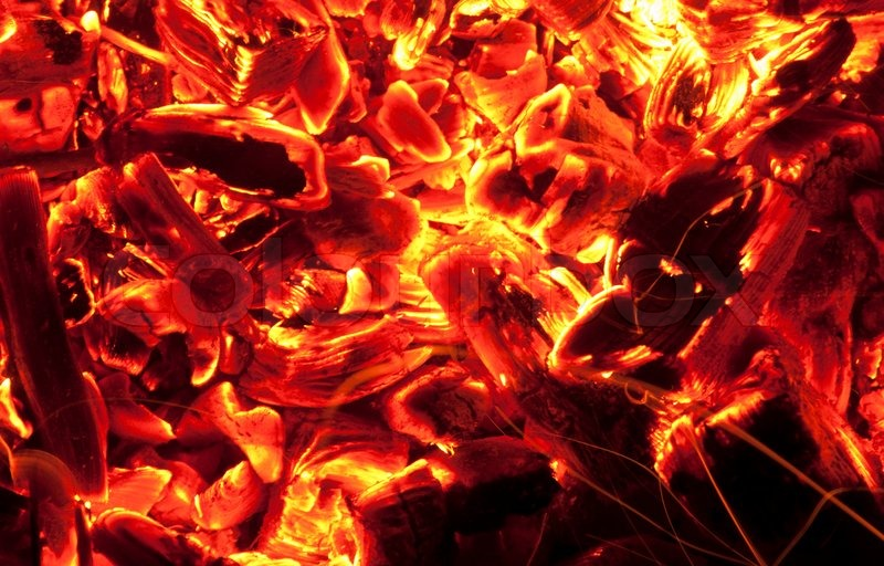 Red Hot Coals Stock Photo Colourbox