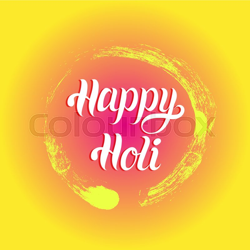 Happy holi greeting card poster festival of colours in india happy holi greeting card poster festival of colours in india vector background holiday of sharing love stock vector colourbox m4hsunfo