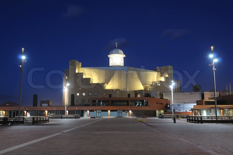 Auditorio alfredo kraus at night las palmas de gran canaria stock photo colourbox - Alfredo kraus auditorio ...