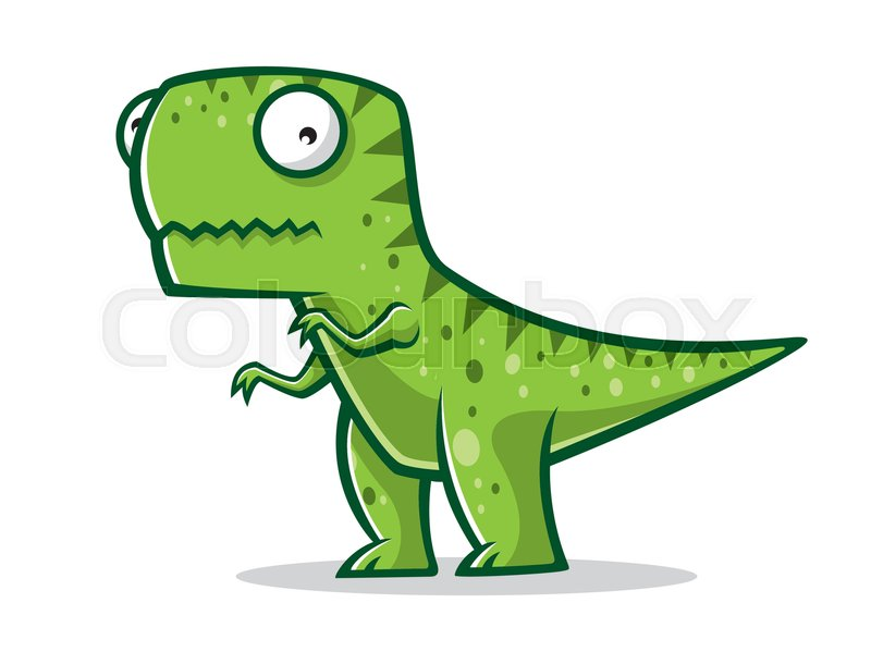 cartoon t rex was standing with two legs stock vector colourbox rh colourbox com t rex vector free download t-rex vector tile