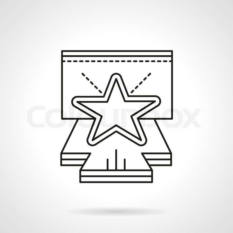Abstract Symbol Of Stage For Concert With Star On Podium Events And