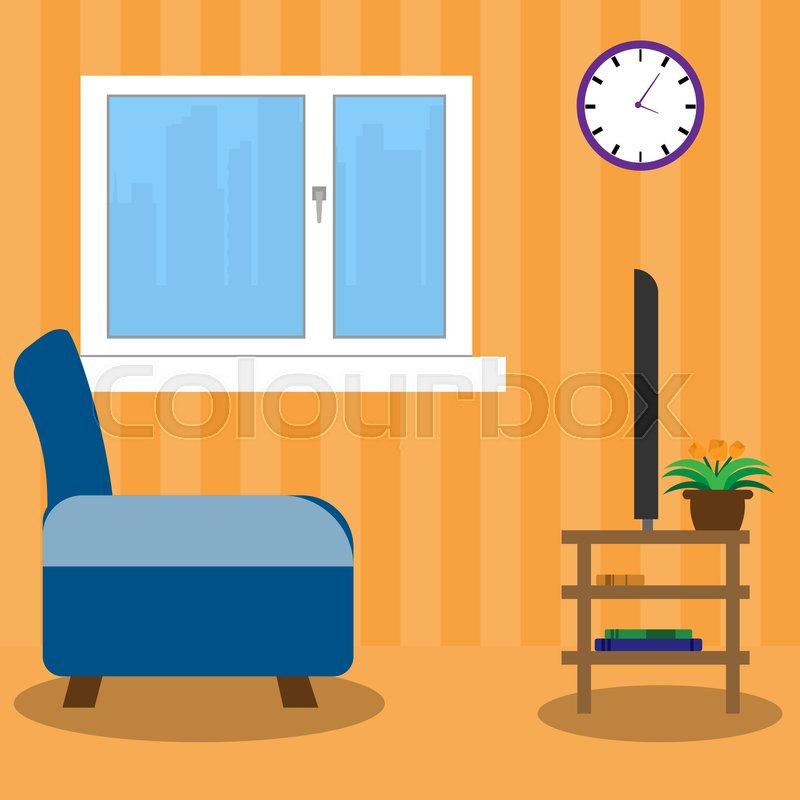 living room side view stock vector colourbox rh colourbox com living room furniture clipart living room design clipart