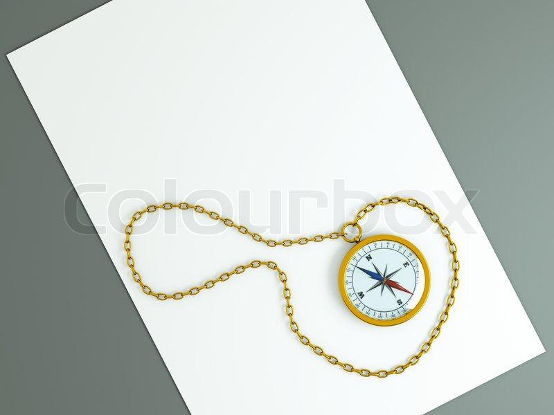 einen kompass mit kette auf dem alten alter von wei en. Black Bedroom Furniture Sets. Home Design Ideas