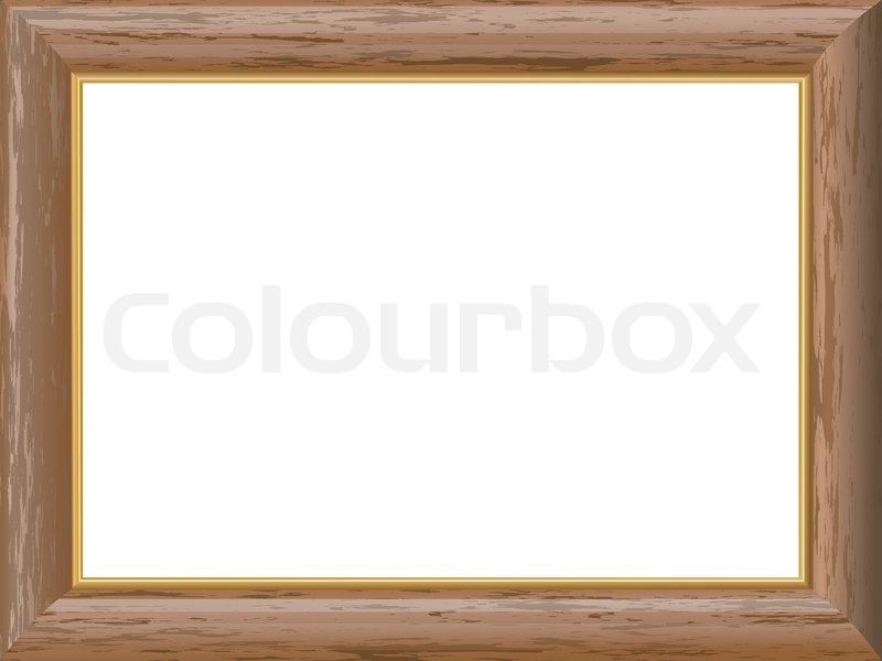 Rustic Wooden Frames Wooden Frame With a Gold Rim