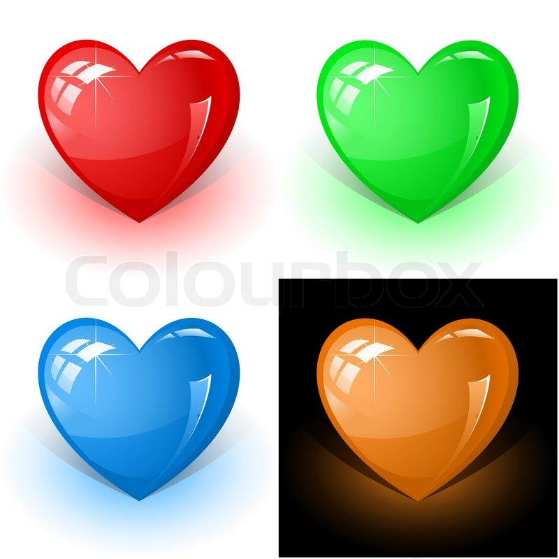 3d Human Icon Vector Vector 3d Icons of Color Heart