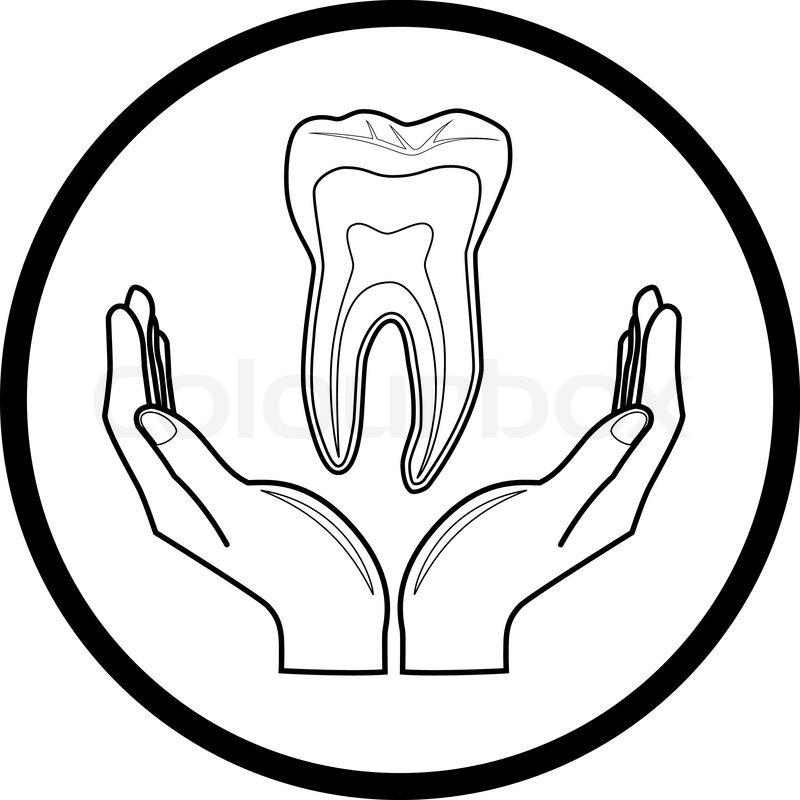 Schutz von Zahn | Vektorgrafik | Colourbox