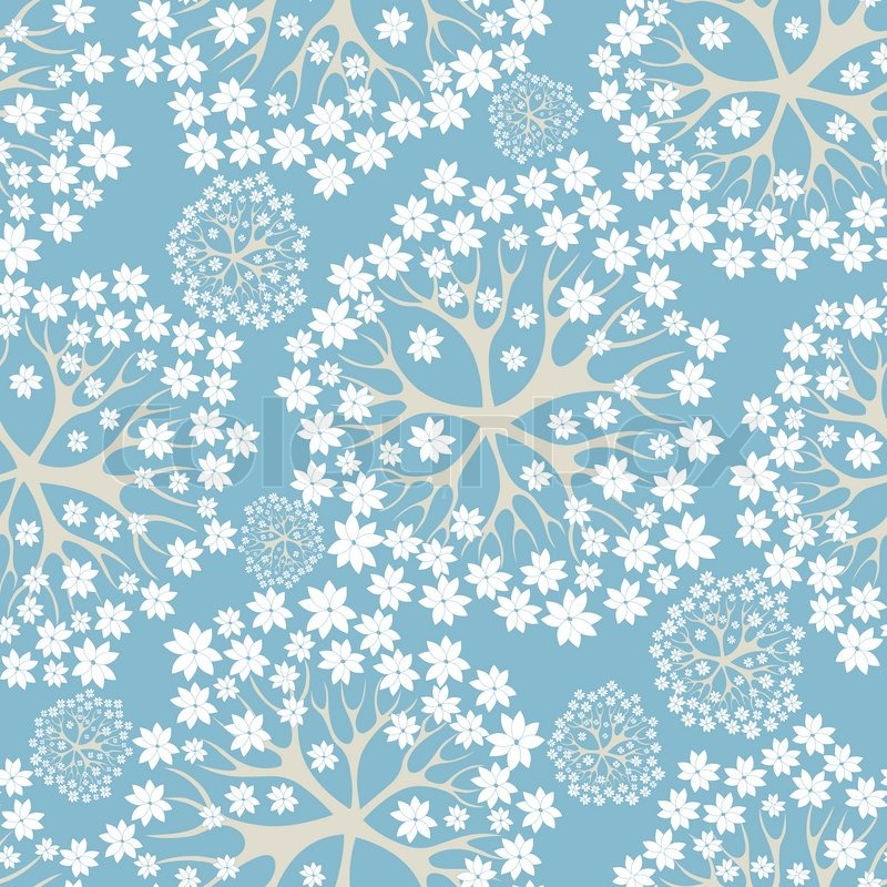 Vector flower background, floral pattern. Seamless texture ...