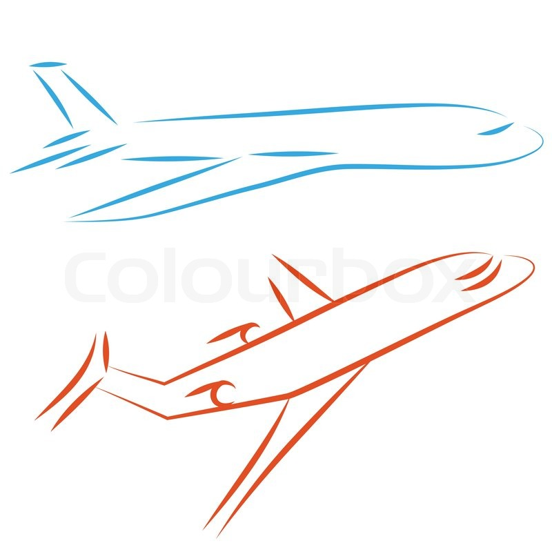 flying vector airplane icon plane airliner jet passenger illustration simple drawing design element vector