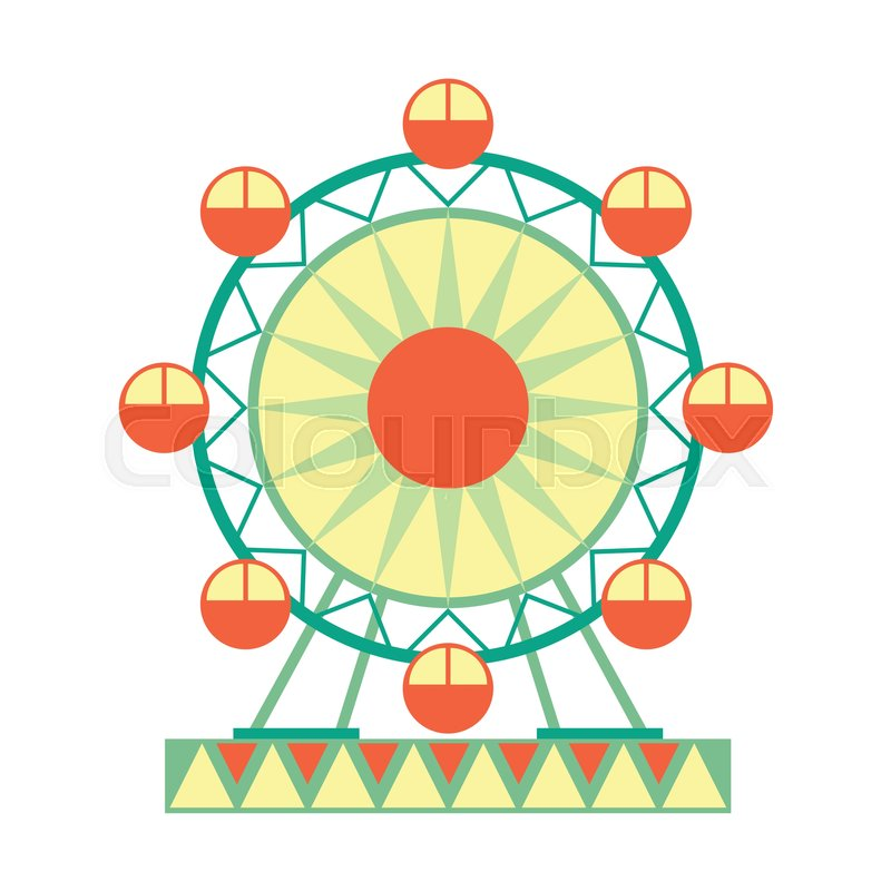 big ferris wheel ride part of amusement park and fair series of rh colourbox com ferris wheel clipart png ferris wheel clipart images