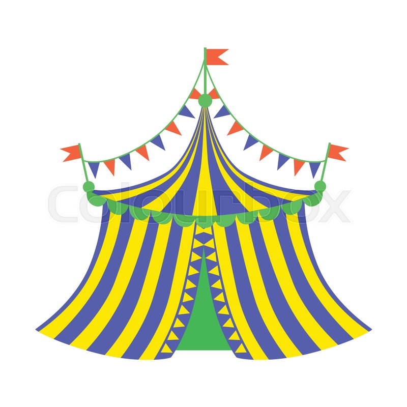 Stock vector of u0027Yellow And Blue Circus Tent Part Of Amusement Park And Fair  sc 1 st  Colourbox & Yellow And Blue Circus Tent Part Of Amusement Park And Fair ...