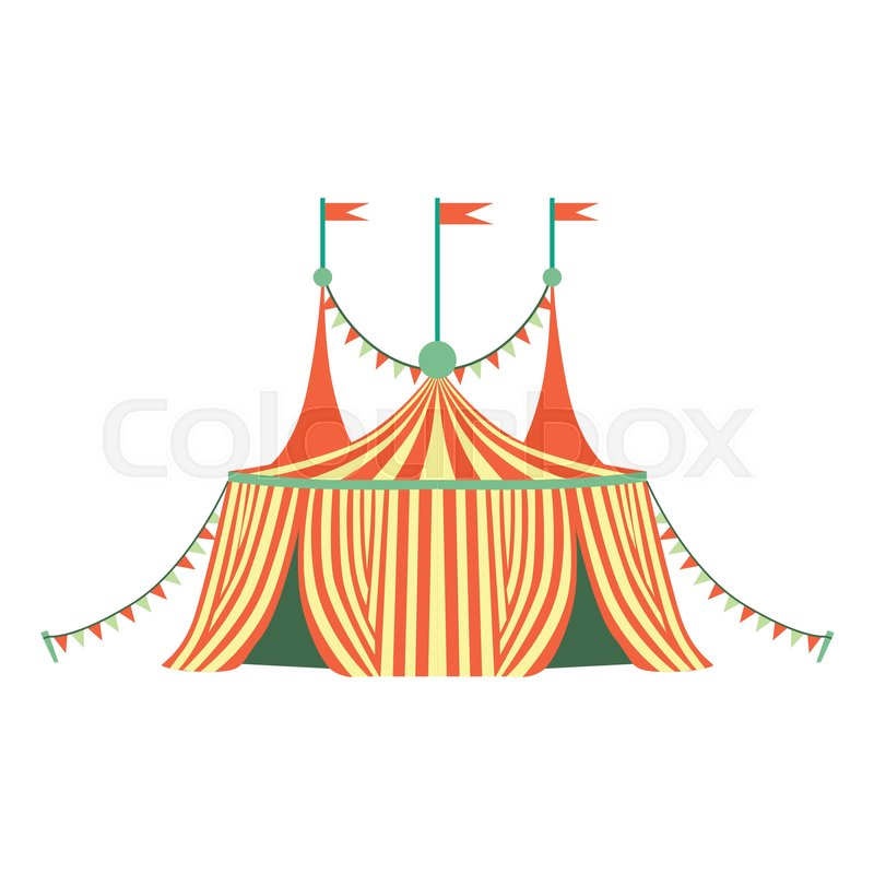 Red And Yellow Stripy Circus Tent Part Of Amusement Park And Fair Series Of Flat Cartoon Illustrations. Isolated Object Related To Theme Park Entertainment ...  sc 1 st  Colourbox & Red And Yellow Stripy Circus Tent Part Of Amusement Park And Fair ...