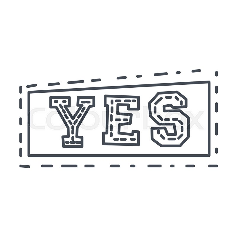 Word Yes In Square Frame, Hand Drawn Comic Speech Bubble Template ...