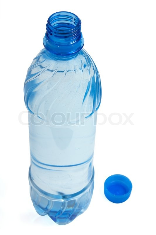 plastic bottle of clean water isolated on white background and clipping path stock photo. Black Bedroom Furniture Sets. Home Design Ideas