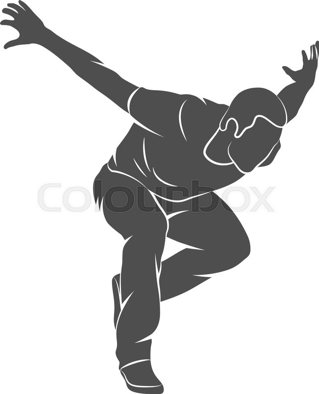 Silhouette man jumping outdoor parkour. Vector illustration, vector