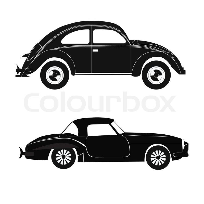 Set Car Silhouette Vector Stock Vector Colourbox