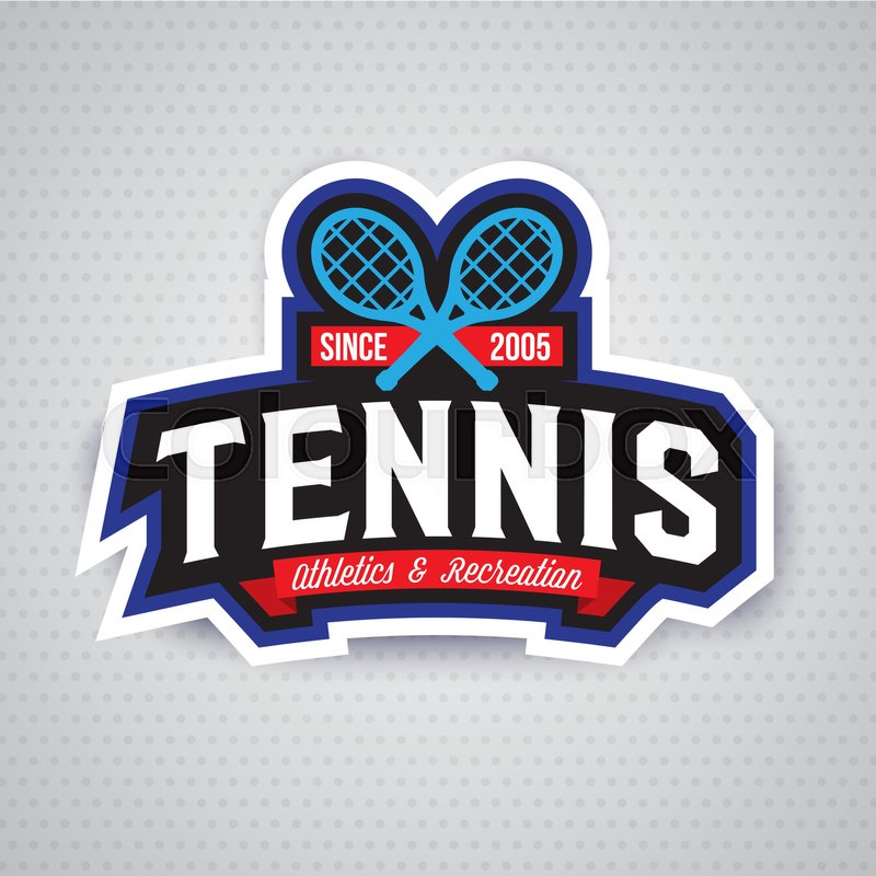 Tennis Badge Logo Templatesport Tshirt Graphics Club Emblem - Event badge template